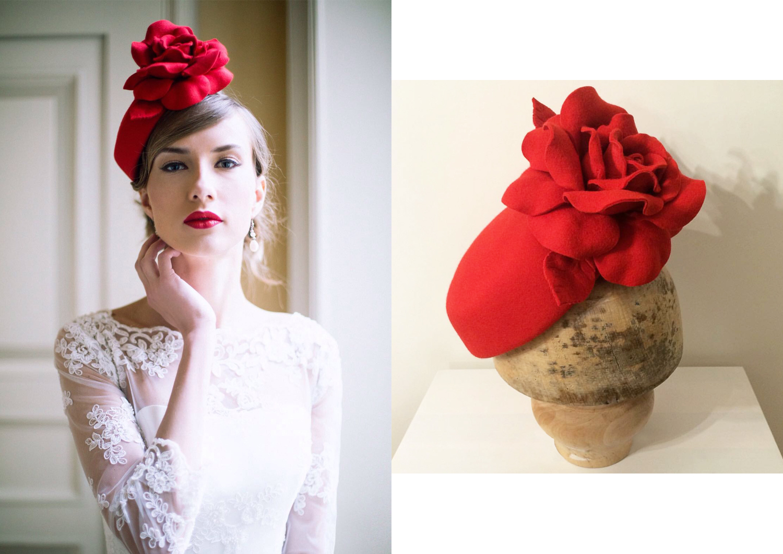 fiori in tessuto per cappelli